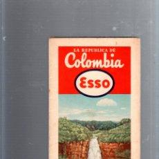 Mapas contemporáneos: MAPA DE CARRETERA. AÑOS 50. ESSO. MAPA DE LA REPUBLICA DE COLOMBIA. Lote 52779999
