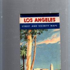 Mapas contemporáneos: MAPA DE CARRETERA. AÑOS 50. CHEVRON SUPREME GASOLINE. LOS ANGELES. Lote 52780163
