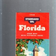 Mapas contemporáneos: MAPA DE CARRETERA. AÑOS 50. STANDARD OIL. 1958. MAPA DE FLORIDA. Lote 52781139