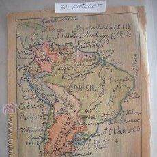 Mapas contemporáneos: ANTIGUO DIBUJO MAPA DE AMERICA DEL SUR ,- HECHO MANO - DE LOS AÑOS 60 -. Lote 52896407