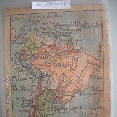 Mapas contemporáneos: ANTIGUO DIBUJO MAPA DE AMERICA DEL SUR ,- HECHO MANO - DE LOS AÑOS 60 -. Lote 52896421