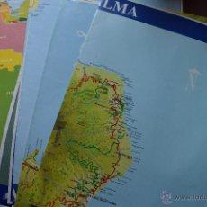 Mapas contemporáneos: COLECCION DE 13 LAMINAS DE MAPAS DEL DIARIO CANARIAS7, VER DESCRIPCION. Lote 52954679