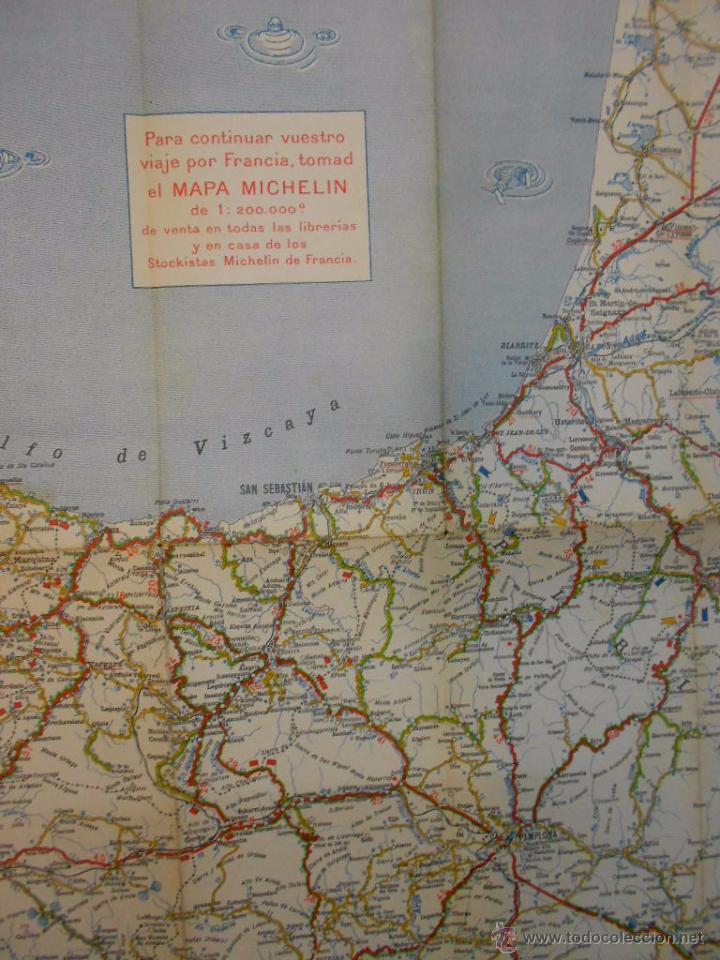 San Sebastian España Mapa.Mapa Michelin Espana Hoja Nº 2 San Sebastian Santander Anos 20 Papel Plegado Esc 1 400 000