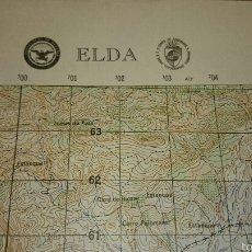 Mapas contemporáneos: ANTIGUO MAPA TOPOGRÁFICO DE ELDA, DEPARTAMENTO DE DEFENSA DE LOS ESTADOS UNIDOS.. Lote 52973383