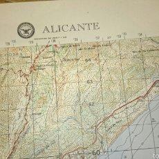 Mapas contemporáneos: ANTIGUO MAPA TOPOGRÁFICO DE ALICANTE, DEPARTAMENTO DE DEFENSA DE LOS ESTADOS UNIDOS.. Lote 52973396