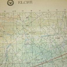 Mapas contemporáneos: ANTIGUO MAPA TOPOGRÁFICO DE ELCHE, DEPARTAMENTO DE DEFENSA DE LOS ESTADOS UNIDOS.. Lote 52973400