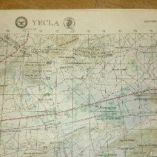 Mapas contemporáneos: ANTIGUO MAPA TOPOGRÁFICO DE YECLA, DEPARTAMENTO DE DEFENSA DE LOS ESTADOS UNIDOS.. Lote 52973415