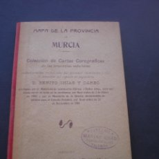 Mapas contemporáneos: MAPA DE LA PROVINCIA DE MURCIA, ENTELADO, 1902. Lote 53022373