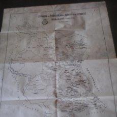 Mapas contemporáneos: MAPA BURJASOT VALENCIA, ESTACION DE FITOPATOLOGIA AGRICOLA DE LEVANTE, 55X43. Lote 53022417
