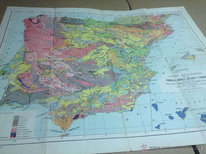 Mapa De La Peninsula.Mapa Geologico De La Peninsula Iberica Balear Sold