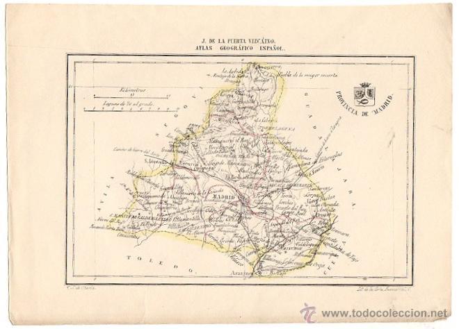 mapa provincia de madrid atlas geografico espa  Comprar Mapas