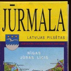 Mapas contemporáneos: MAPA JURMALA - LETONIA - ESCALA 1 20 000 AÑO 2003 CON INDICE CALLES E INFORMACION-(REF M1 E1DETRAS. Lote 53203552