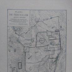 Mapas contemporáneos: PLANO DE JERUSALÉN ANTIGUO Y MODERNO. SIGLO XIX.. Lote 53271633