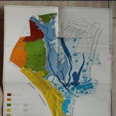 Mapas contemporáneos: PARQUE NACIONAL DE DOÑANA. MAPA ECOLÓGICO. MINISTERIO DE AGRICULTURA. MAPA Y FOLLETO.. Lote 53300624