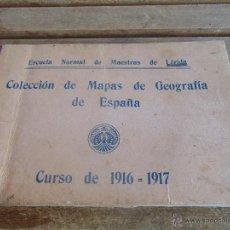 Mapas contemporáneos: ESCUELA NORMAL MAESTRAS LERIDA COLECCION 33 MAPAS GEOGRAFIA ESPAÑA 1916 1917 ORIGINALES FIRMADOS. Lote 53431093