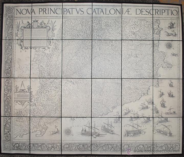 NOVA PRINCIPATUS CATALONIAE DESCRIPTIO. 1602 - 1605. MAPA DE CATALUNYA. EDICIÓN FACSÍMIL. (Coleccionismo - Mapas - Mapas actuales (desde siglo XIX))