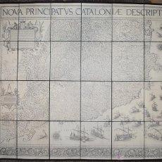 Mapas contemporáneos: NOVA PRINCIPATUS CATALONIAE DESCRIPTIO. 1602 - 1605. MAPA DE CATALUNYA. EDICIÓN FACSÍMIL.. Lote 53446428