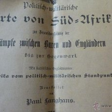 Mapas contemporáneos: SUDÁFRICA - SEGUNDA GUERRA BOER: POLITISCH-MILITÄRISCHE KARTE 1899. Lote 53556927