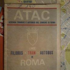 Mapas contemporáneos: PLANO DE ROMA DE 1967. Lote 53666757
