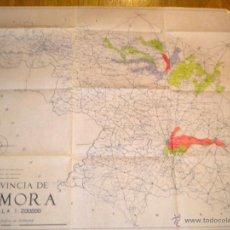 Mapas contemporáneos: MAPA DE ZAMORA / REGADIOS / DELINEANTE Mª LUISA GALINDO. Lote 53787687