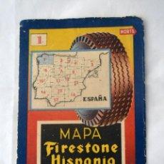 Mapas contemporáneos: MAPA FIRESTONE HISPANIA * CORUÑA * LUGO * ORENSE * PONTEVEDRA Y OVIEDO. Lote 53852299