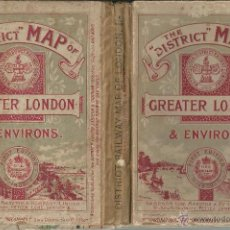 Mapas contemporáneos: THE DISTRICT MAP (MAPA) OF GREATER LONDON AND ENVIRONS.FIRTS EDITION LONDON 1902. LONDRES 1ª EDICION. Lote 53983370