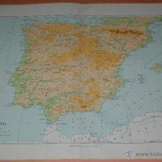 Mappe contemporanee: MAPA DE ESPAÑA/ HISPANIA DURANTE EL IMPERIO ROMANO - IMPRESO ORIGINAL DEL ATLAS DE MURRAY 1917. Lote 54181389