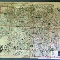 Mapas contemporáneos: PLANO MADRID GUÍA CALENDARIO EL FIRMAMENTO PUBLICIDAD TÍO PEPE GONZÁLEZ BYASS AÑOS 50 . Lote 54201520