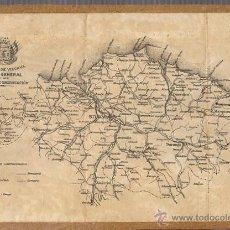 Mapas contemporáneos: SEÑORIO DE VIZCAYA. PLANO GENERAL DE SUS VIAS DE COMUNICACION. CIRCA 1900. Lote 54251041