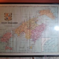 Mapas contemporáneos: ISLAS BALEARES. ENTELADO MODELO VIAJE - ALBERTO MARTÍN EDIT. BENITO CHIAS. ENTELADO. 1905 . Lote 54374932