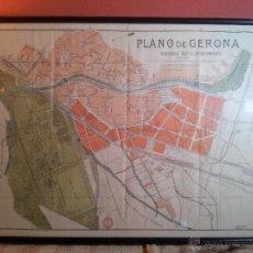 Mapas contemporáneos: PLANO GERONA -ENTELADO - MODELO VIAJE - ALBERTO MARTÍN EDIT. CIRCA 1900. Lote 54375068