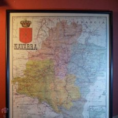 Mapas contemporáneos: MAPA NAVARRA ENTELADO MODELO VIAJE - ALBERTO MARTÍN EDIT. . ENTELADO. CIRCA 1900. Lote 54375165
