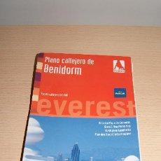 Mapas contemporáneos: PLANO CALLEJERO DE BENIDORM - EDITORIAL EVEREST - AÑO 2009 - ESCALA 1:10.000. Lote 54585358