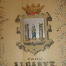 Mappe contemporanee: MAPA COROGRÁFICO DISTRITO ALGARVE, PORTUGAL ,ORIGINAL 1903,BENITO CHÍAS,GRAN TAMAÑO. Lote 54588764