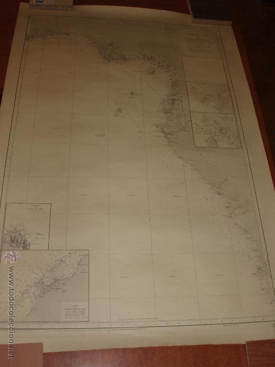 MAPA. CARTA DESDE CABO SAN PABLO HASTA CABO SAN BLAS (LOANDA) DIRECCION HIDROGRAFIA 1905 (Coleccionismo - Mapas - Mapas actuales (desde siglo XIX))