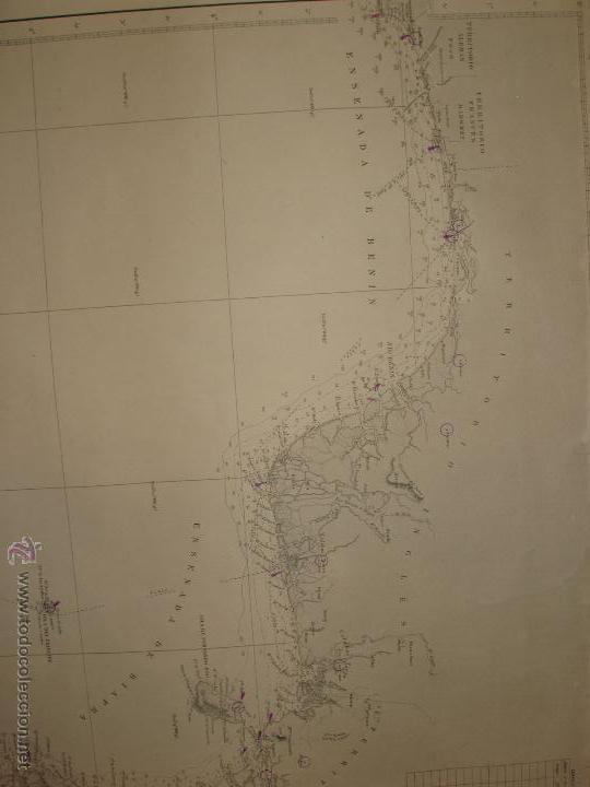 Mapas contemporáneos: MAPA. CARTA DESDE CABO SAN PABLO HASTA CABO SAN BLAS (LOANDA) DIRECCION HIDROGRAFIA 1905 - Foto 4 - 54769044