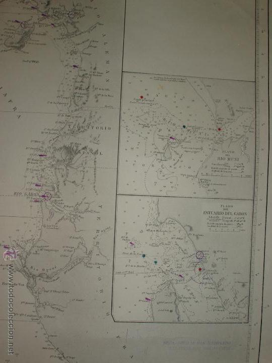 Mapas contemporáneos: MAPA. CARTA DESDE CABO SAN PABLO HASTA CABO SAN BLAS (LOANDA) DIRECCION HIDROGRAFIA 1905 - Foto 5 - 54769044