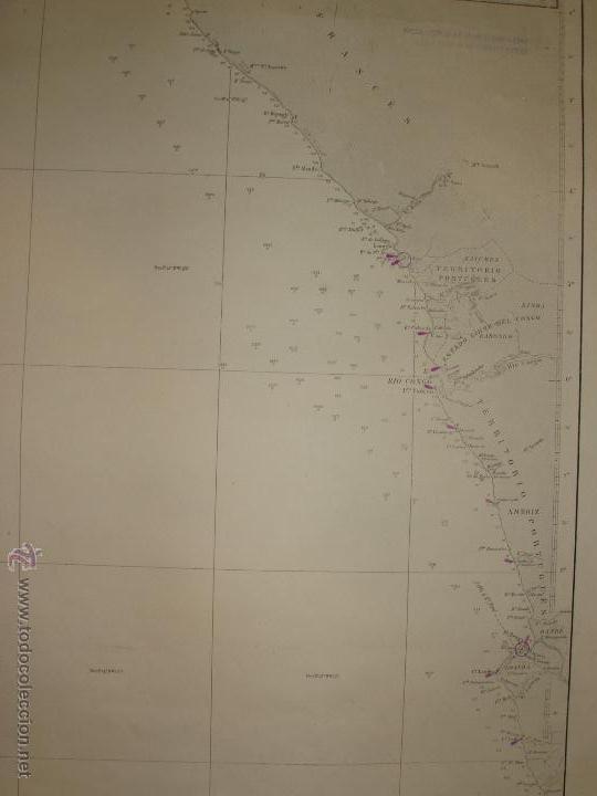 Mapas contemporáneos: MAPA. CARTA DESDE CABO SAN PABLO HASTA CABO SAN BLAS (LOANDA) DIRECCION HIDROGRAFIA 1905 - Foto 6 - 54769044