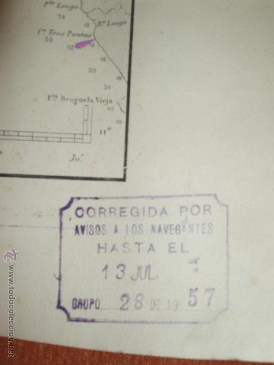 Mapas contemporáneos: MAPA. CARTA DESDE CABO SAN PABLO HASTA CABO SAN BLAS (LOANDA) DIRECCION HIDROGRAFIA 1905 - Foto 7 - 54769044