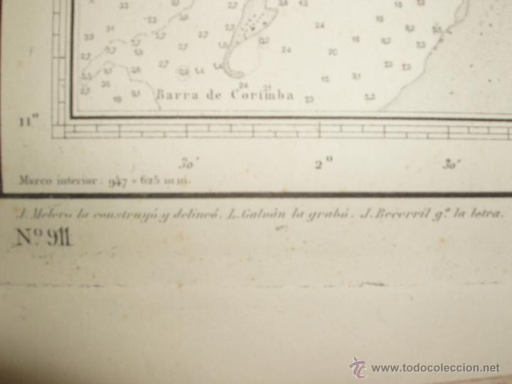 Mapas contemporáneos: MAPA. CARTA DESDE CABO SAN PABLO HASTA CABO SAN BLAS (LOANDA) DIRECCION HIDROGRAFIA 1905 - Foto 8 - 54769044