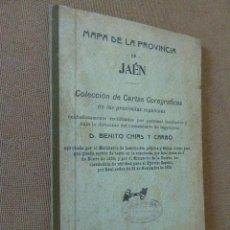 Mapas contemporáneos: MAPA DE LA PROVINCIA DE JAEN. MAPA ENTELADO DE LA PROVINCIA. 35 X 46 CM. COLECCION DE CARTAS CORO. Lote 54781477