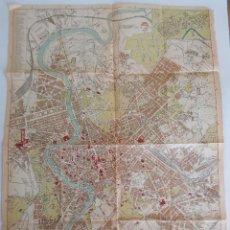 Mapas contemporáneos: ANTIGUO Y RARO PLANO CALLEJERO TURÍSTICO CIUDAD DE ROMA 1921. Lote 54805360