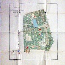 Mapas contemporáneos: PLANO DEL RETIRO (MADRID) 1919. INSTITUTO GEOGRÁFICO Y ESTADÍSTICO (ESCALA 1: 5000.. Lote 54835654