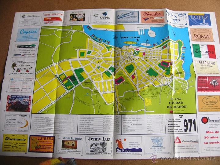 Mapas contemporáneos: Mapa plano guia turistica de carreteras de Mahon Menorca - Foto 2 - 54835988