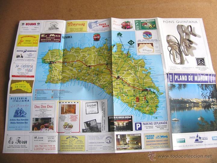 Mapas contemporáneos: Mapa plano guia turistica de carreteras de Mahon Menorca - Foto 3 - 54835988