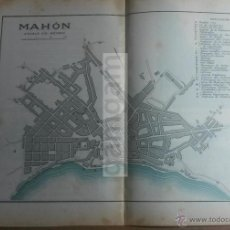 Mapas contemporáneos: PLANO DE MAHON MENORCA -AÑO 1912- (REF AY). Lote 54938092