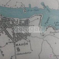 Mapas contemporáneos: PLANO DEL PUERTO DE MAHON MENORCA -AÑO 1912- (REF AY). Lote 54938096