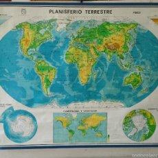 Mapas contemporáneos: MAPA MUNDI ESCUELA 1980 DALMAU CARLES PLA 122 X 92 CMS. Lote 54996261