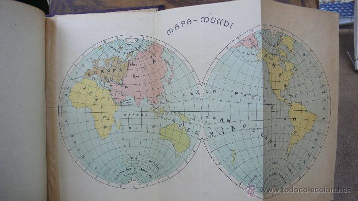 lbum con 7 mapas mapamundi europa asia f  Comprar Mapas