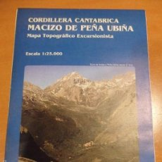 Cartes géographiques contemporaines: CORDILLERA CANTABRICA. MACIZO DE PEÑA UBIÑA. MAPA TOPOGRAFICO EXCURSIONISTA. ESCALA 1:25.000. EDICIO. Lote 55157443
